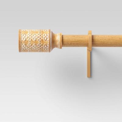 66 120 cylinder curtain rod wood tone opalhouse