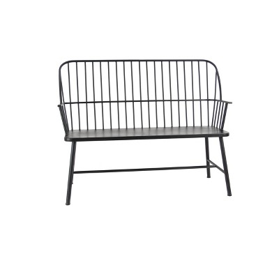 traditional outdoor patio bench black olivia may