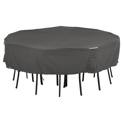 ravenna square patio table and chair set cover medium large dark taupe classic accessories