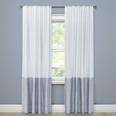 84 x50 blackout color block curtain panel gray project 62