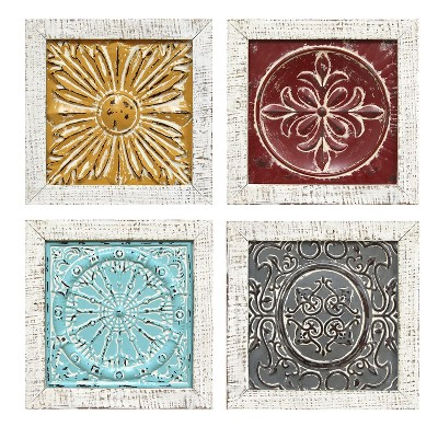 set of 4 12 x 12 accent tile wall art stratton home decor