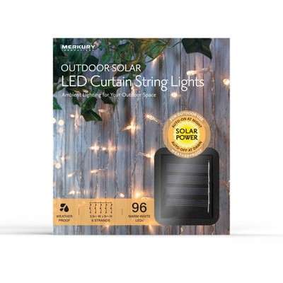 3 5 x 5 outdoor solar led curtain string lights clear wire merkury innovations