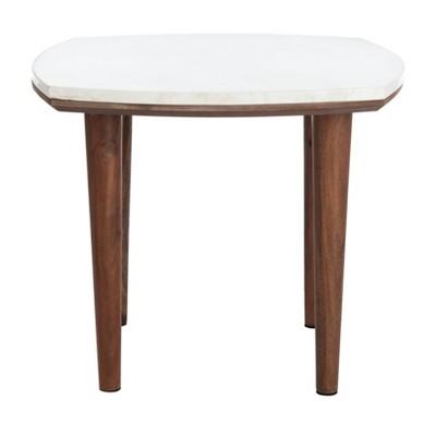 lara marble side table marble white safavieh