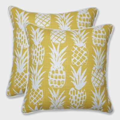 16 5 2pk pineapple throw pillows yellow pillow perfect