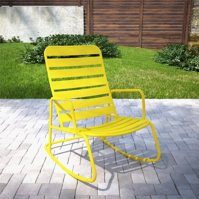 roberta patio rocking chair yellow novogratz