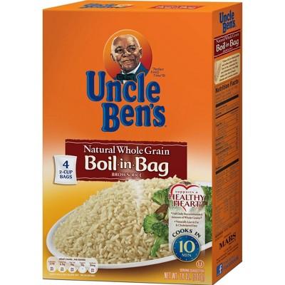 uncle ben s boil in bag whole grain brown rice 14oz