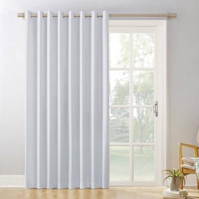 84 x100 kenneth outdoor extra wide blackout grommet top door curtain panel white sun zero