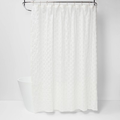 dots pattern opaque shower curtain white project 62