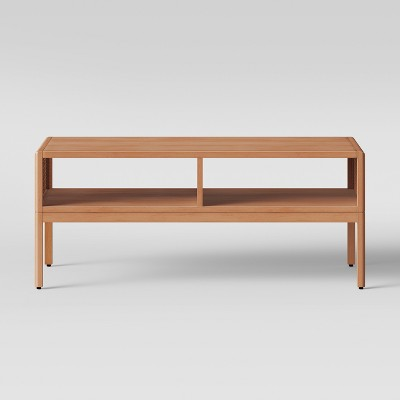 minsmere caned coffee table natural brown opalhouse