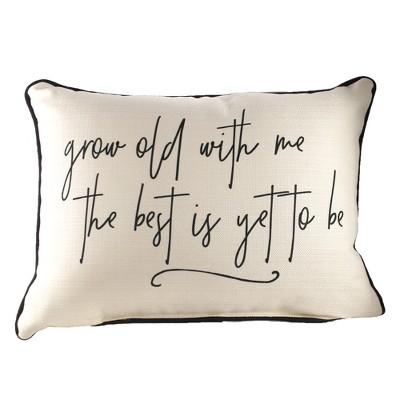 home decor 14 0 grow old with me pillow rectangle lumbar decorative pillow