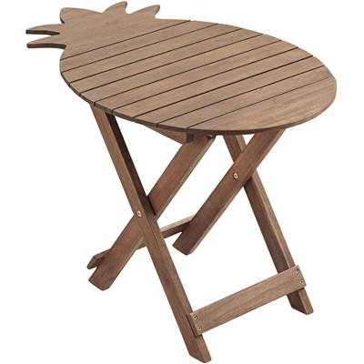 teal island designs monterey pineapple natural wood outdoor folding table
