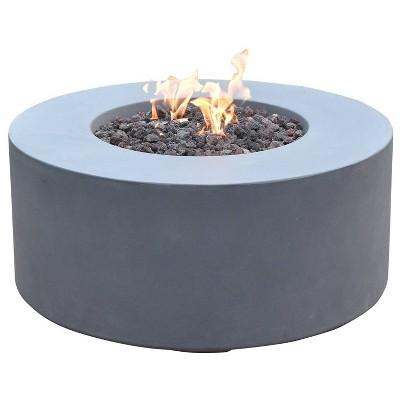 venice 34 natural gas fire pit outdoor backyard patio heater gray elementi
