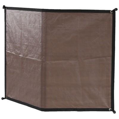 advantek pet 23348 8 foot outdoor dog gazebo reversible wall sun shade tarp cover brown white