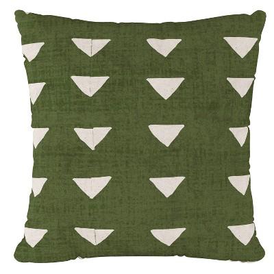 green triangle print throw pillow skyline furniture