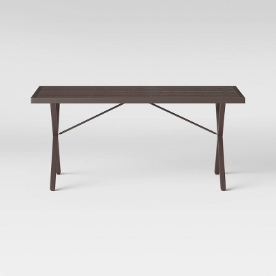 monroe 6 person rectangle patio dining table brown threshold