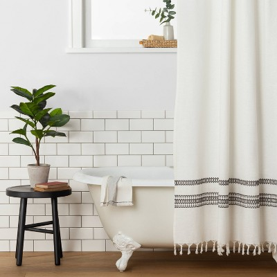 fabric shower curtains target