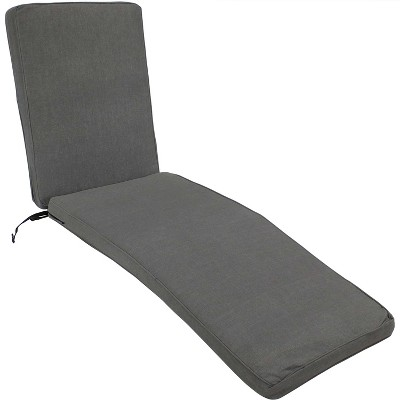 sunnydaze indoor outdoor olefin replacement patio chaise lounge chair seat cushion 72 x 21 gray