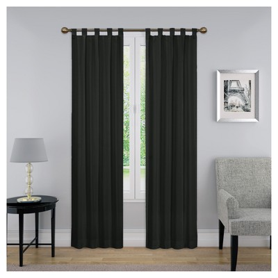 set of 2 84 x30 montana light filtering curtain panels black pairs to go