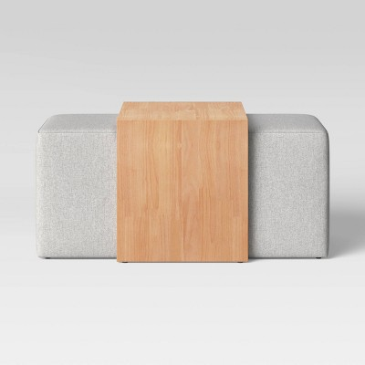 durant rectangular cocktail ottoman with waterfall table project 62