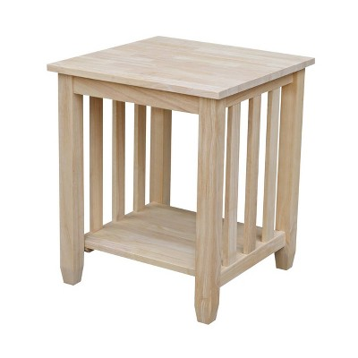 mission tall end table international concepts