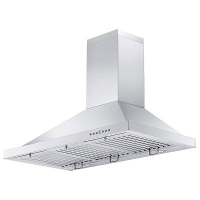 zline kb 30 30 inch 400 cfm mounted kitchen wall ductless range hood with led lights and 4 speed exhaust fans stainless steel