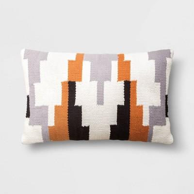 geometric patterned lumbar throw pillow project 62