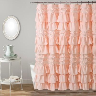 kemmy shower curtain blush pink lush decor