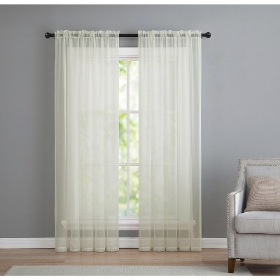 vcny home infinity sheer curtain panel sage sheer curtain panel pair 108 x 96