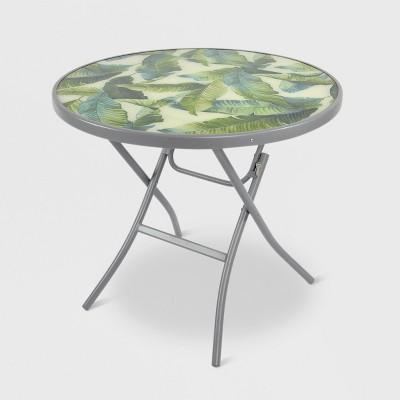 32 folding patio bistro table green