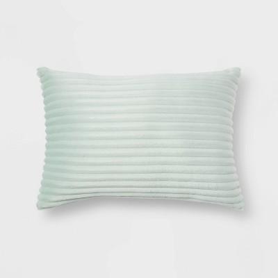 oblong cut plush decorative throw pillow mint room essentials