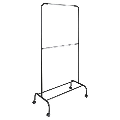 2 tier garment rack black silver room essentials
