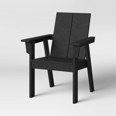moore polywood patio dining chair black project 62
