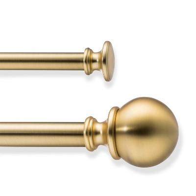 66 120 double rod ball brass threshold