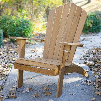sherwood oversized adirondack chair with cup holder teak cambridge casual