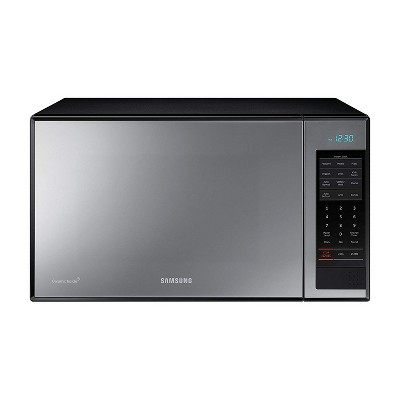 samsung mg14h3020cm 1 4 cf stainless steel countertop microwave oven with grilling element and ceramic plate black silver certified refurbished
