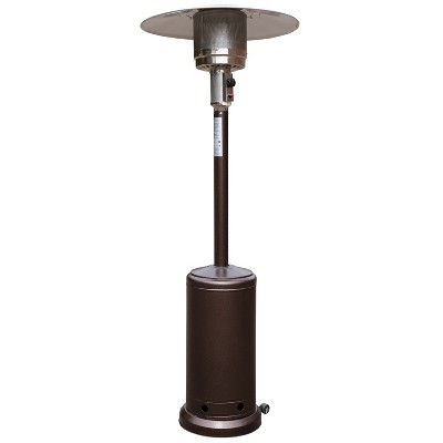 flash furniture patio outdoor heating bronze stainless steel 40 000 btu propane heater with wheels for commercial residential use 7 5 feet tall