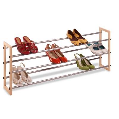 wood stackable shoe racks target