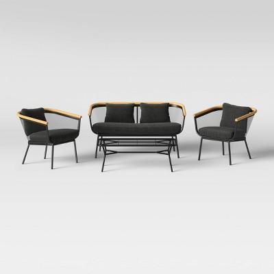 bangor 4pc patio conversation set black project 62