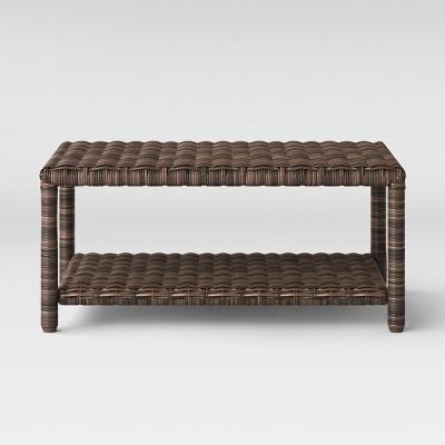 monroe wicker patio coffee table brown threshold