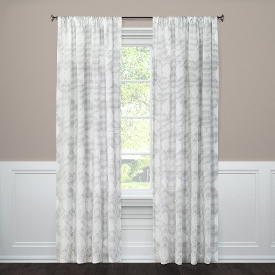 84 x54 clipped sheer curtain panel radiant gray threshold