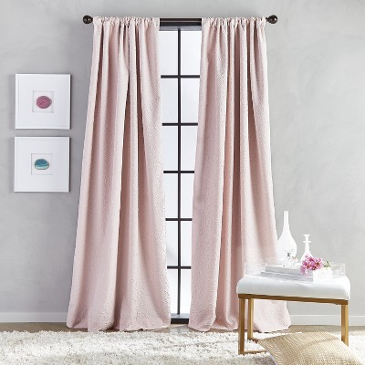 84 x52 bloomsbury poletop lined curtain panel blush chf industries