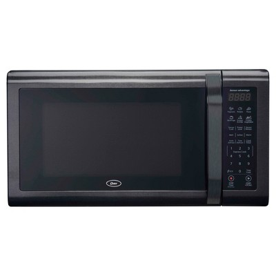 oster 1 4 black stainless microwave oven