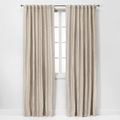63 x52 faux silk room darkening window curtain panel ivory threshold