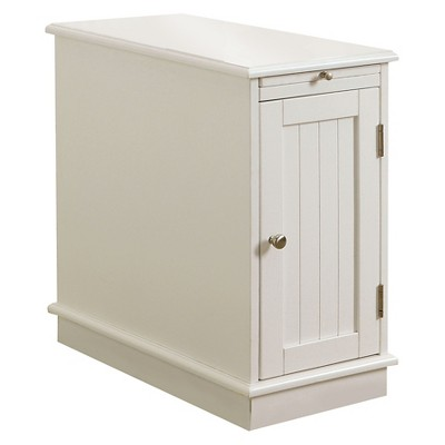 provence accent table with storage white mibasics
