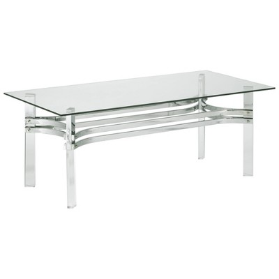 braddoni rectangular cocktail table chrome signature design by ashley