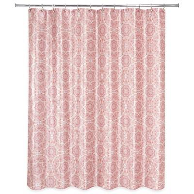 kaleidoscope shower curtain blush pink allure home creation