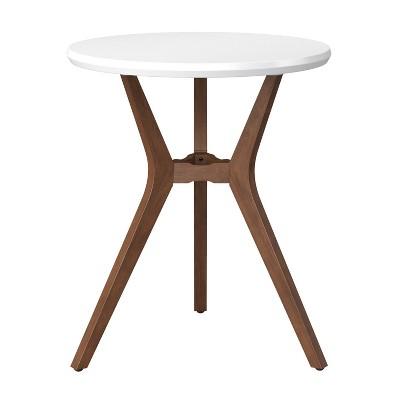 28 emmond mid century modern round bistro dining table white project 62