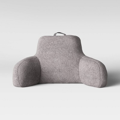 sherpa bed rest pillow gray room essentials