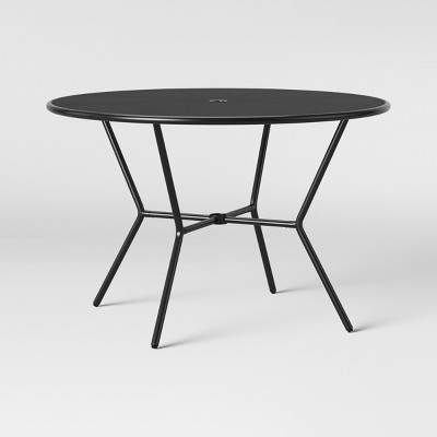 bangor 4 person round patio dining table black project 62