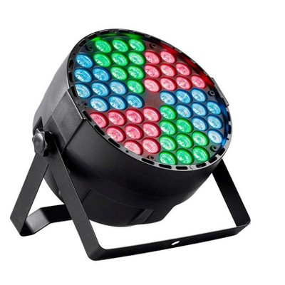 monoprice stage right 1 watt rgb 3 in 1 x 54 led sound active party light with built in automated color changing programs